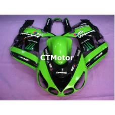 CTMotor 2006 2007 2008 2009 2010 2011 KAWASAKI ZX14R ZZR 1400 FAIRING 68A Monster