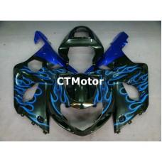 CTMotor 2000 2001 2002 SUZUKI GSXR 1000 K1 FAIRING 38B Flame