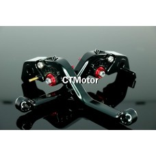 CTMotor 2005-2007 FOR KAWASAKI ZZR600 ZZR 600 BLACK LEVER