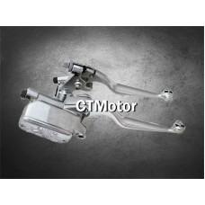 CTMotor Universal 1〃Chrome Motorcycle Handlebar Brake Master Cylinder & Clutch Lever Skull