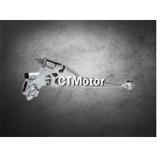 CTMotor Universal 1〃Chrome Motorcycle Handlebar Controls Clutch Lever Left Skull